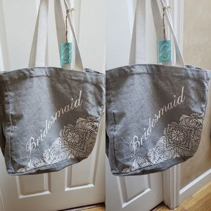 India Boutique Bags - 2 Bridesmaid Tote Bags